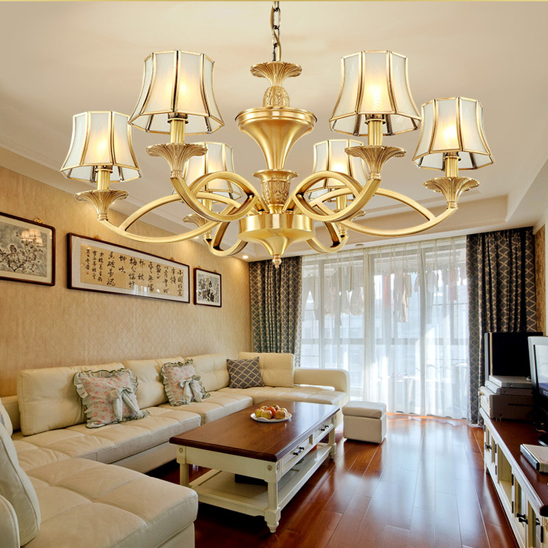 Full Copper Chandelier Living Room Restaurant Decoration