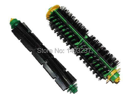 Bristle Brush + Flexible Beater Brush for iRobot Roomba 500 Series 510, 530, 535, 540, 550, 560, 570, 580, 610 Vacuum Cleaner ntnt free post new 2 x flexible beater brush for irobot roomba 500 series 550 560 570 580 510 530
