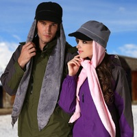Outdoor Unisex Hat Men Women Skiing Hats Warm Winter Polar Fleece Scarf Sports Cap Winter Soft