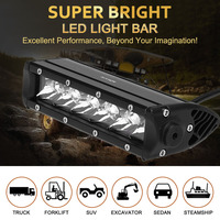KKmoon 30W Diecast Bar Shape Spot Beam LED Car Work Light 2550LM Long Life Span for Jeep 4x4 Offroad ATV Truck Boat SUV 12V 24V