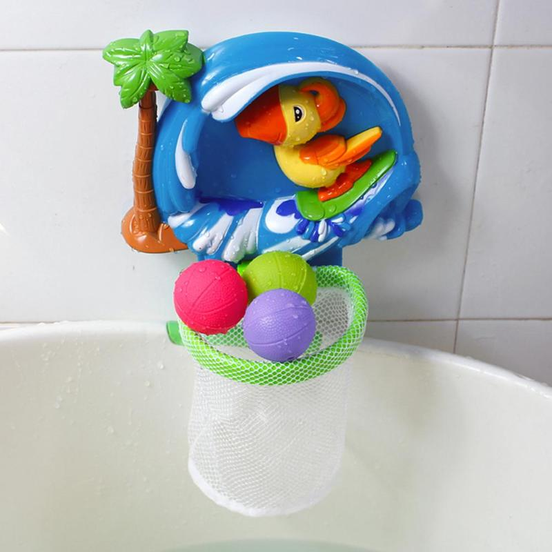1 set Baby Bath Toy Bathtub Shooting Basketball Toy Swimming Pool Kids Play Educational Toys for Kids Children Bathing Shower