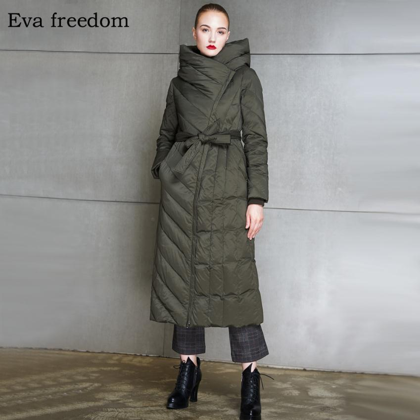High Quality 2018 Winter New Collection Women Hooded Long   Down     Coat   Female Winter Warm Thick   Down   Jacket wj2572 factory outlets