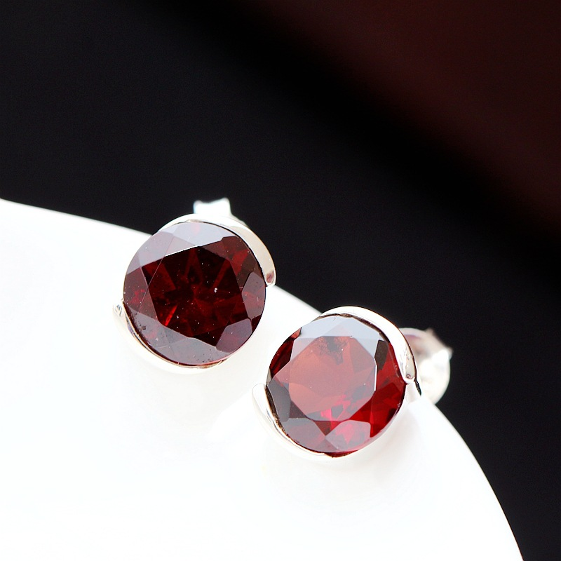 Ge hand set jewelry wholesale natural garnet Thailand hypoallergenic 925 pure Tremella Tremella nail accessories