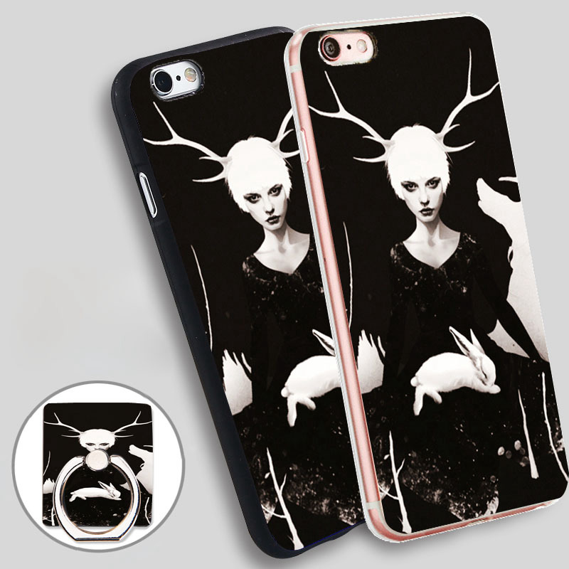<font><b>space</b></font> <font><b>within</b></font> canvas Phone Ring Holder Soft TPU Silicon Case Cover for iPhone 4 4S 5C 5 SE 5S 6 6S 7 Plus