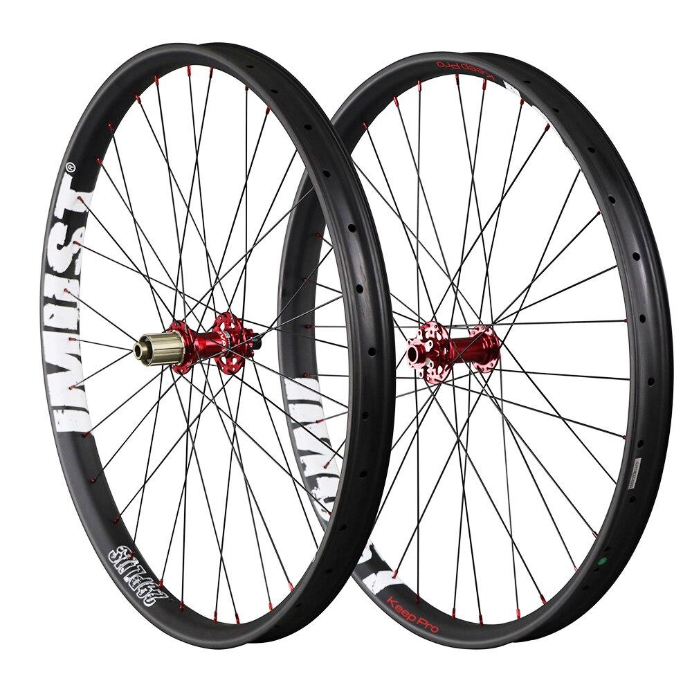 IMUST 29 PLUS mountain bike wheel 50mm width carbon fat bike wheels Double Wall Hookless Tubeless Compatible