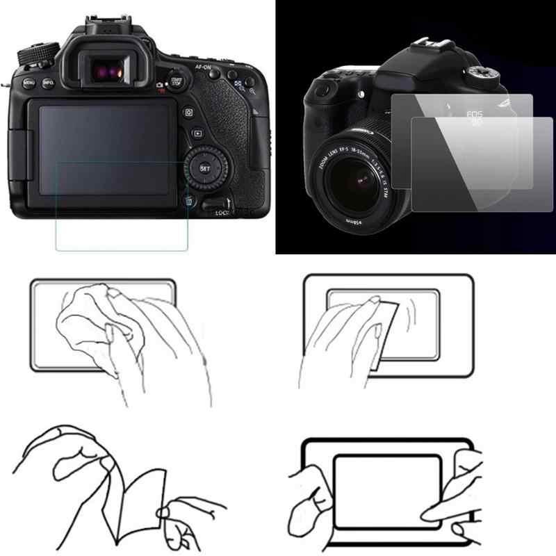 8H 0.55 مللي متر الزجاج المقسى واقي للشاشة المضادة للخدش DSLR كاميرا LCD شاشة واقية غطاء فيلم لكانون 80D لنيكون D750