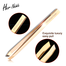 Professional Stainless Steel gold Eyelash Eyebrow Tweezers Face nose Hair Remover Tweezer Art Gel Picking Make Up tools
