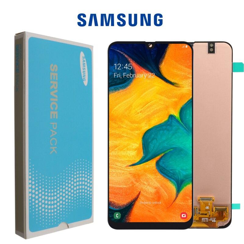 ORIGINELE 6.4 ''SUPER AMOLED LCD Display voor SAMSUNG GALAXY A30 A305/DS A305F A305FD A305A Touch Screen Digitizer montage-in LCD's voor mobiele telefoons van Mobiele telefoons & telecommunicatie op AliExpress - 11.11_Dubbel 11Vrijgezellendag 1