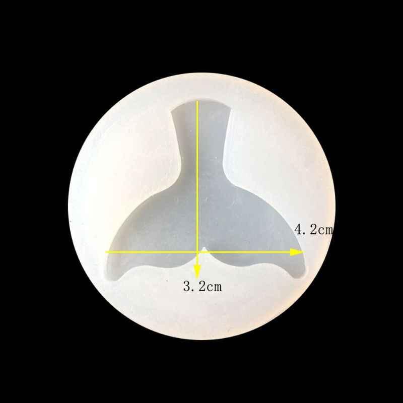 3D ryby ogon silikonowe formy biżuteria wisiorek narzędzia do pieczenia mydło wyrabiane ręcznie żywicy odlewania formy narzędzia rzemieślnicze ryby widelec ogon