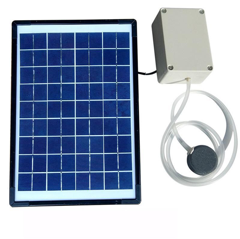 Solar Aeration Pump Silent Hydroponic Plant Fish Tank Fish Pond Fish Oxygen Pump Air Pump