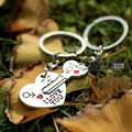 Personalized heart couple key chain key ring exquisite a pair of key chain