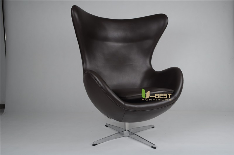 arne egg style egg chair in black leather (3)