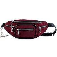 Women's Fanny Belt Pack Small Chest Waist Shoulder Black bag for women 2018 shell Grind Walking Shopping Belly unisex Band bag