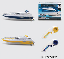 Free Shipping Cool gadgets out door 777-332 2.4G 4CH RC Speedboat Infinitely variable speeds/high rc boat best gift vs udi001