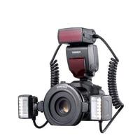 Yongnuo YN24EX E TTL Macro Flash Speedlite for Canon EOS1Dx 5D3 5D4 6D2 R5 90D Cameras with 2pcs Flash Head + 4pcs Adapter Rin