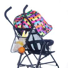 Baby Kids Stroller Accessories Hanging Bags Mesh Bag Bottle Diaper Net Bag baby buggies stroller organizer ld ourlove(China)