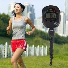 Хронограф секундомер сигнализация водонепроницаемая компас цифровая встроенный таймер счетчик жк профессиональный