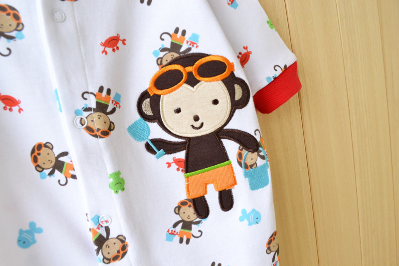 17 New spring cartoon baby rompers cotton 100% girls and boys clothes long sleeve romper Baby Jumpsuit newborn baby Clothing 8