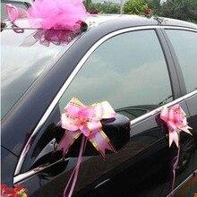 Шт. 10 шт. подарок обертывание тянуть Луки Цветок Подарок посылка Свадьба День Рождения Декор XHC88
