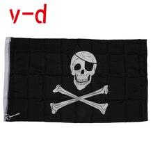 free  shipping xvggdg 90* 150CM 90x150cm Large Skull Headband Crossbones Pirates Flag Jolly Roger polyster flag