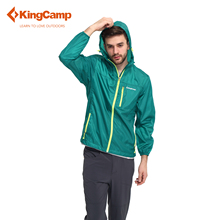 KingCamp Men's Summer Outdoor Lightweight Easy Carry Wind Rain Jacket Quick Dry Windbreaker Skin Coat Waterproof Soft Raincoat