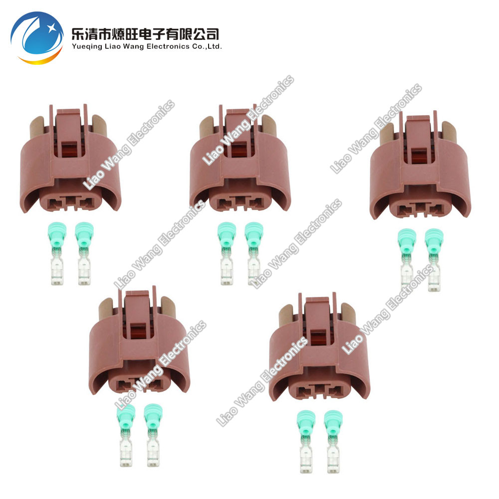 5 pcs fog lights for VW Golf 6 plug connector for Toyota Corolla near light lamp holder DJ7020Y-2.8-21 2P