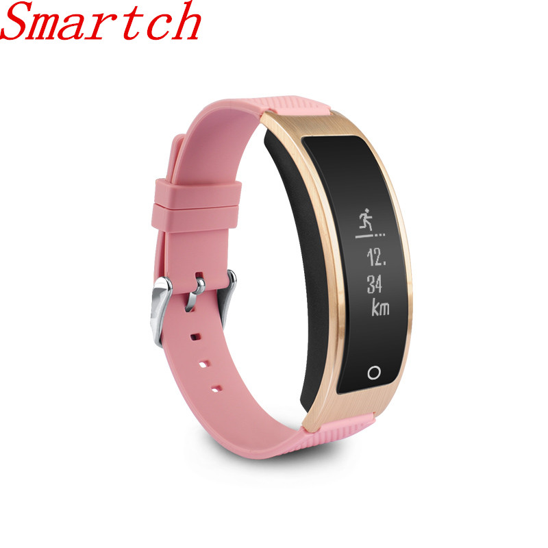 Smartch I8 Smart Bracelet Talk Band Heart Rate Monitor Blood Pressure Watch with Pedometer Sleep Fitness