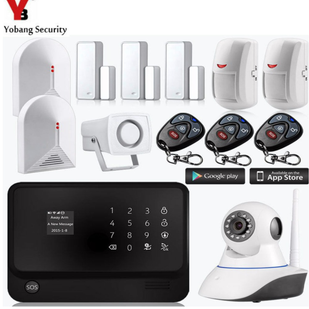 YobangSecurity Swedish Dutch Russian French Spanish Voice Home Security System Wireless WiFI GSM Alarm System Glass Break Sensor