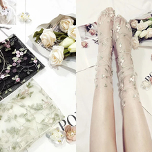 SP&CITY Unique Floral Embroidered Transparent Short Socks Women Fashion Summer Low Thin Hollo Out Hatajuku