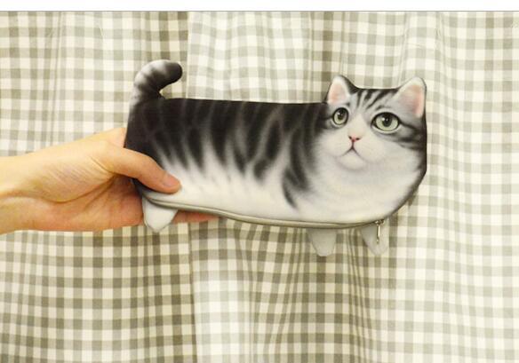 2019 nouveau 50 pcs nouveau Style mignon nouveauté 3D animaux chat et chien fermeture à glissière en peluche porte-monnaie Kawaii enfants porte-monnaie femmes portefeuille Mini