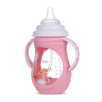 yooap 240 ml wide-bore anti-inflation strap for baby articles and anti-drop glass bottles