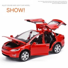 Tesla MODEL X Alloy Car Model Diecasts & Toy Vehicles Toy Cars Free Shipping Kid Toys For Children Gifts Boy Toy New 1:32 1 43 scale alloy pull back car models high simulation chevrolet bel air 1957 metal diecasts kid s toy vehicles free shipping