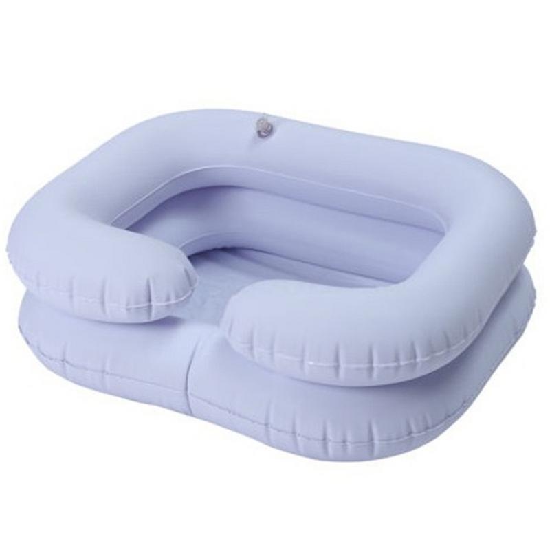 Portatile Gonfiabile Lavello PVC Shampoo Bacino Lavabo per Gli Anziani Disabili Infermieristica Comodo Pieghevole Lavello