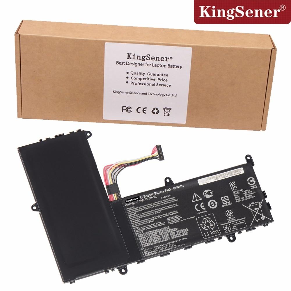 KingSener New C21N1414 Laptop Battery For ASUS EeeBook X205T X205TA Series C21N1414 7.6V 38WH Free 2 Years Warranty