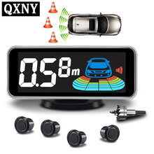 Parkeer Sensor Kit Lcd Kleur Display Voice Buzzer Parkeerhulp Detector Omkeren Back Parking 4/Sensoren NY606