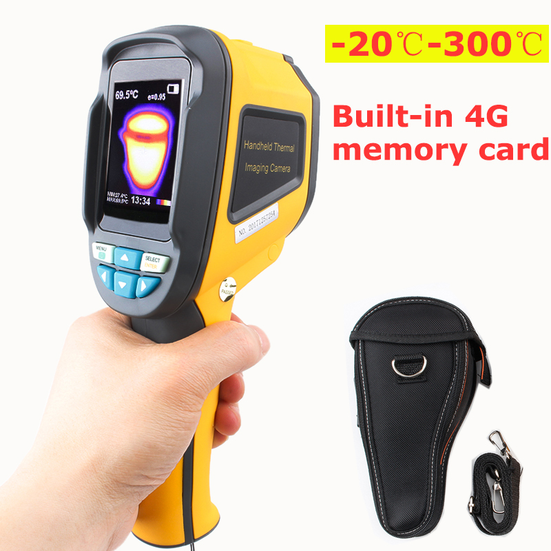 -Thermomètre infrarouge de caméra d'imagerie thermique 20C-300C avec imageur thermique IR portatif de carte mémoire 4G
