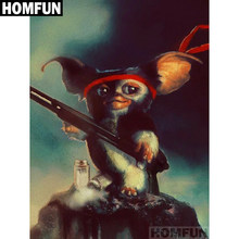 "HOMFUN Full Square/Round Drill 5D DIY Diamond Painting ""Big ear monkey"" Embroidery Cross Stitch 5D Home Decor Gift A01490(China)"
