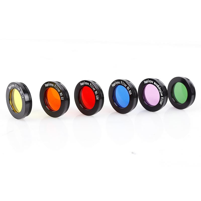 """Image 5 - Angeleyes 1.25"""" Color Astro Filters Set (6 pieces) for Astronomical Telescopes Ocular Lens Planets Nebula Filter SkyGlowMonocular/Binoculars   -"""