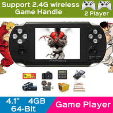 10pcs /a Lot 64 Bit 4.1 Inch Handheld Game Player Game Console 4G MP4 MP5 Game Player portable consoles Multimedia classic Game