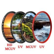 KnightX HD UV MCUV 49 52 55 58 62 67 72 77 MM Camera Lens Filter For canon eos sony nikon 400d 1300d d5100 accessories 200d dslr zomei pro ultra slim mcuv 16 layer multi coated optical glass uv filter for canon nikon hoya sony lens dslr camera accessories