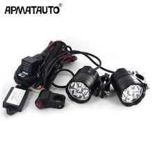 2X LED Yardımcı Işıkları Far LED Çalışma Işık Spot Işık Sürüş Sis 12 V Araba Motosiklet + Kablo demeti + röle Toyota Honda için