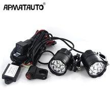 Plug&play 60W Motorcycle Headlight spotlight 9600lm/set 6000k auxiliary LED lights Fog light CNC machined Aluminium Housing