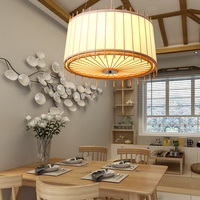 Modern Chinese pendant lights bamboo wood restaurant lights Japanese tatami bedroom study teahouse pendant lamp bamboo lamp zb43