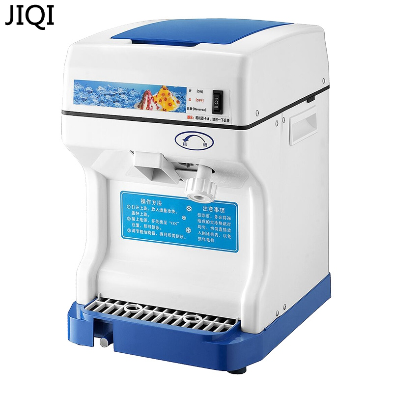 JIQI 220V/110V Household Ice Crushers Shavers electric snow ice machine snowflake maker commercial ice slush sand maker tea shop jiqi electric ice crusher shaver snow cone ice block making machine household commercial ice slush sand maker ice tea shop eu us