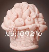 En gros!!! 1 pcs Fruits Panier (ZX1625) Handmade Soap Moule En Silicone Artisanat Moule DIY
