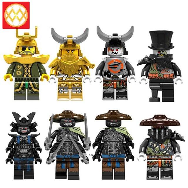 Один мастер золотой дракон Ллойд Железный барон жевательная игрушка Коул гармадон змея Bytar морда NYA Wu строительные блоки игрушки для детей