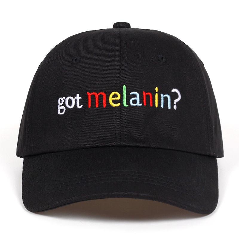 2018 High Quality Cotton got melanin? Snapback   Cap     Baseball     Cap   For Men Women Hip Hop Dad Hat Bone Garros Snapbacks golf   caps