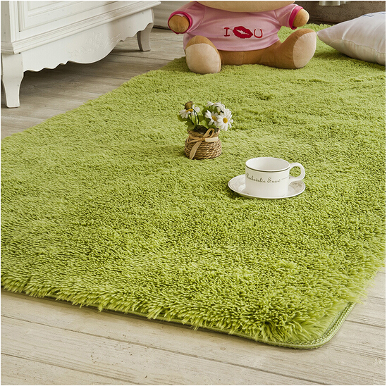 Solid Color Long Hair Carpet Shaggy Soft Area Rug Bedroom Living Room Anti Slip Kids Mat Plush Rug hallway carpet big size Mat