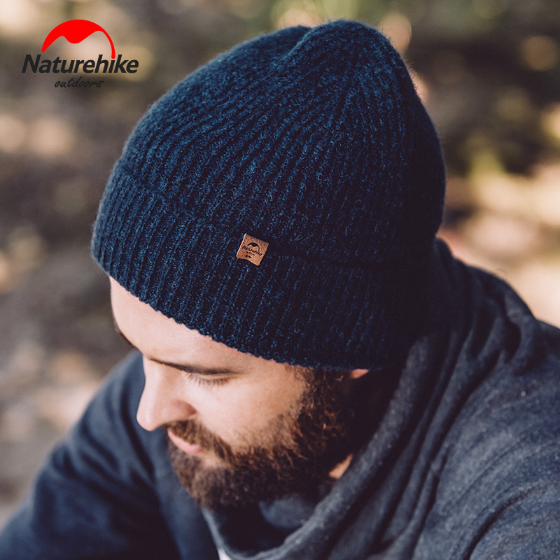 Naturehike Thermal hiking caps Winter Knitted Wool Hat man women Outdoor Thick camping hiking Hats Keep warm in winter sports