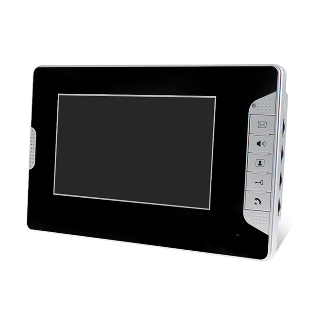 7 inch TFT-LCD Monitor Color Video Door Phone Video Intercom Screen Indoor Unit Machine For DIY Intercom System Free Shipping
